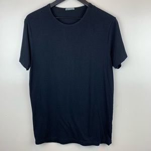 Marks & Spencer Black Crew Neck Tee Medium